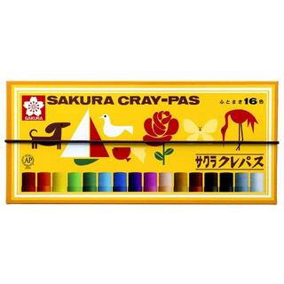 サクラクレパス クレパス 16色 ゴムバンド付き(クレヨン/パステル)