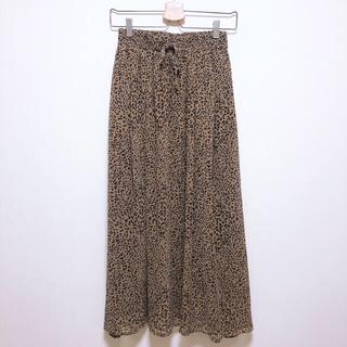 しまむら - レオパード柄 ロングスカート