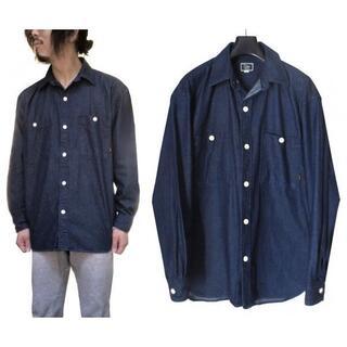 キャリー(CALEE)の19A/W CALEE ビッグサイズ インディゴ ワーク デニムシャツ(シャツ)