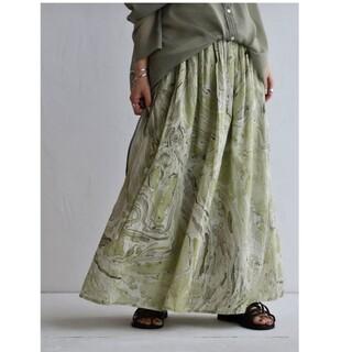 antiqua - アンティカフェ アンティカ マーブル柄スカート