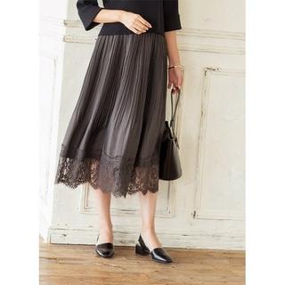 スタイルデリ(STYLE DELI)のスタイルデリ裾レースエアリープリーツスカート(ひざ丈スカート)
