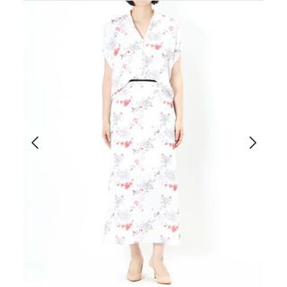マメ(mame)のマメ クロゴウチ Flower Printed Skirt(ロングスカート)