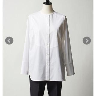 Drawer - yori   ヨリ ノーカラー ドレスシャツ 未使用 タグ付き 美品