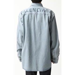 Balenciaga - BALENCIAGA オーバーサイズ デニムシャツ