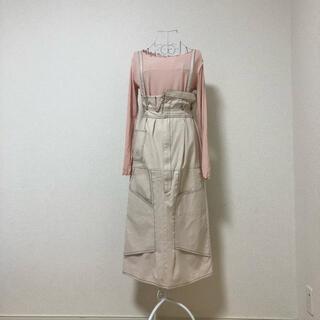 Kastane - kastane リメイク風 ジャンパースカート ロングスカート