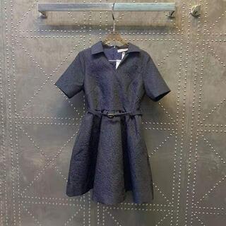 ディオール(Dior)のDiorドレス CDベルト付き(ミニワンピース)