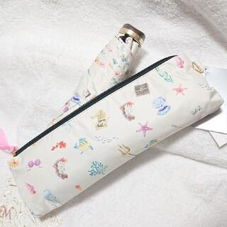 ディズニー(Disney)のリトル・マーメイド 日傘 折りたたみ式 ポーチ付き(傘)
