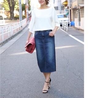 スタイルデリ(STYLE DELI)のスタイルデリ サイドラインデニムペンシルスカート(ひざ丈スカート)