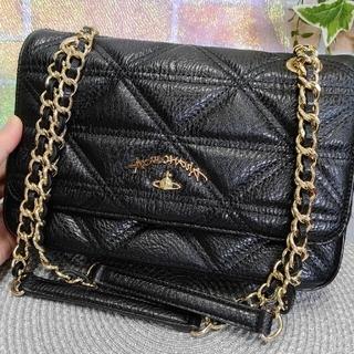 Vivienne Westwood - ビビアンウエストウッドマトラッセ黒チェーンショルダーバッグ正規品美品