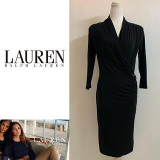 ラルフローレン(Ralph Lauren)のLAUREN RALPH LAUREN ストレッチカシュクールワンピース ドレス(ミディアムドレス)