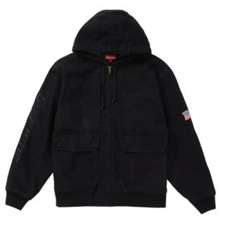 シュプリーム(Supreme)のSupreme Canvas Hooded Work Jacket Black (カバーオール)