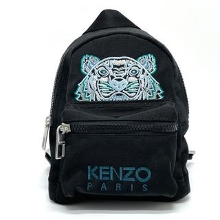 ケンゾー(KENZO)のケンゾー タイガー刺繍 ミニリュック デイパック 鞄 スポーティ ブラック(リュック/バックパック)