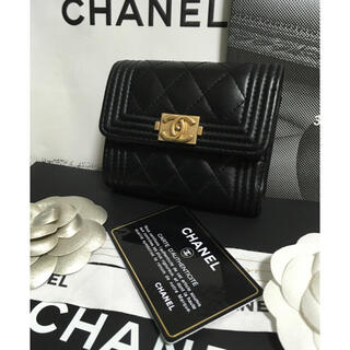 シャネル(CHANEL)の超美品★ ボーイシャネル 三つ折り財布 ミニ財布 27番台 正規品(財布)