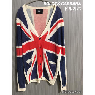 DOLCE&GABBANA - 【美品!訳有り】DOLCE&GABBANA (ドルガバ)カーディガン 国旗総柄