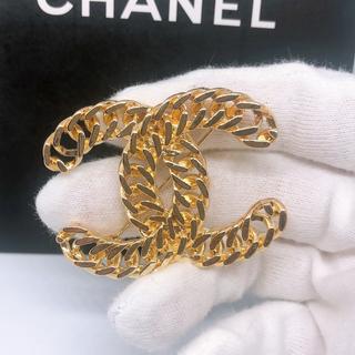 CHANEL - ユニセックス 男女兼用 シンプル ゴールド チェーン ブローチ