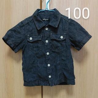 コムサイズム(COMME CA ISM)のコムサ 半袖 100 デニムシャツ 男の子 女の子(Tシャツ/カットソー)