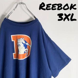 リーボック(Reebok)の【NFL 3XL】リーボック Reebok ブロンコス ビッグロゴ Tシャツ(Tシャツ/カットソー(半袖/袖なし))