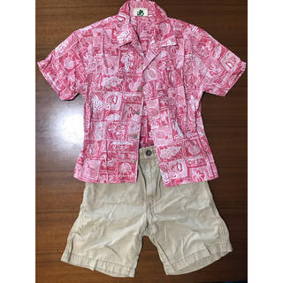 eaB - 上下セット e.a.B BEBEベベお洒落ボタンシャツ 柔らかなショートパンツ