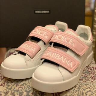 DOLCE&GABBANA - ドルガバ pinkスニーカー38