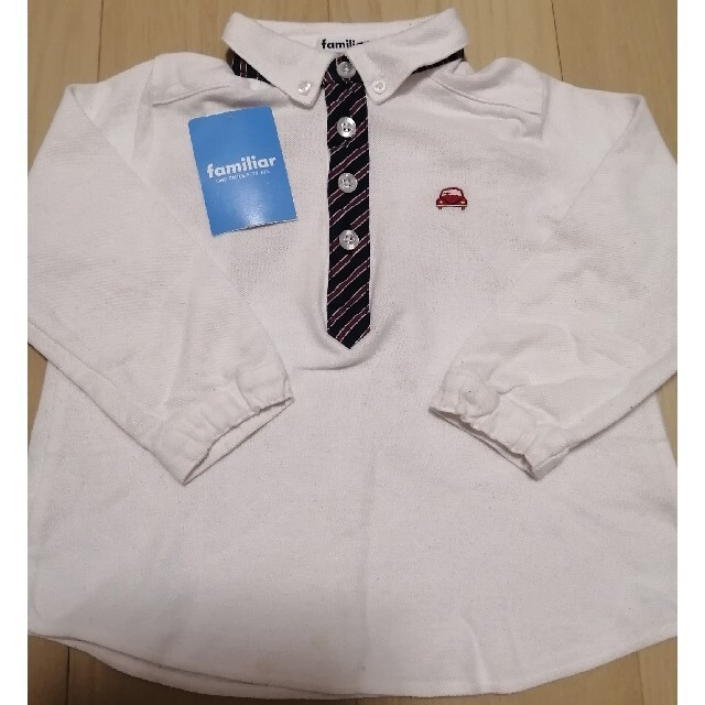 familiar(ファミリア)のファミリアシャツ 100 キッズ/ベビー/マタニティのキッズ服男の子用(90cm~)(Tシャツ/カットソー)の商品写真