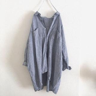 ネストローブ(nest Robe)のネストローブ麻リネンゆったりオーバーサイズシャツ長袖美品(シャツ/ブラウス(長袖/七分))