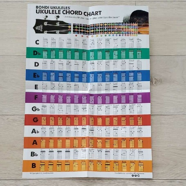 新品 ウクレレコードチャートポスター 楽器のウクレレ(その他)の商品写真