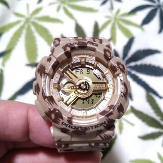 ベビージー(Baby-G)のCASIO Baby-G ba-110lp ジーショック ブラウン レオパード(腕時計)