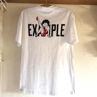 シュプリーム(Supreme)のEXAMPLE×BettyBoop*コラボTシャツ*Mサイズ*ホワイト(Tシャツ/カットソー(半袖/袖なし))