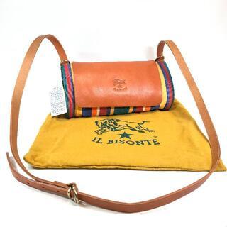 IL BISONTE - 【新品タグ付】イルビゾンテ レザー・コットン ショルダーバッグ