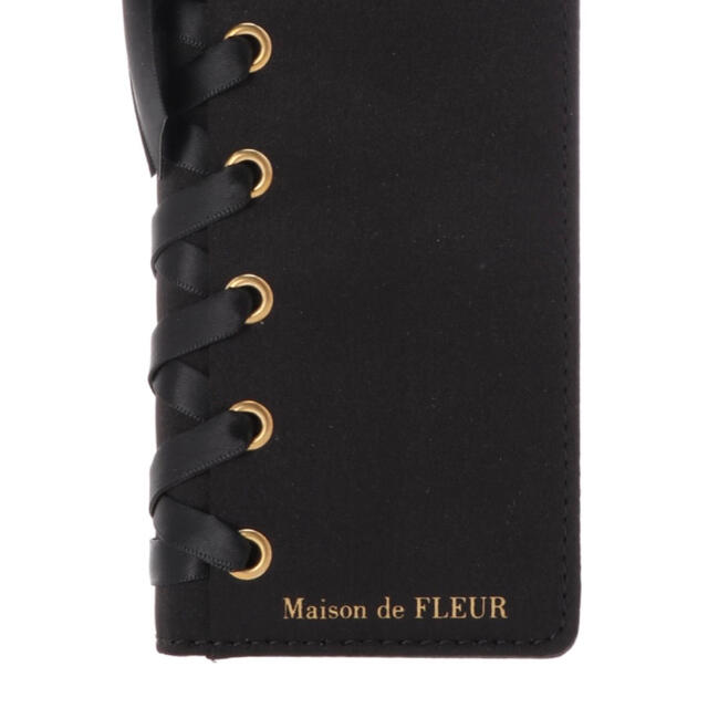 Maison de FLEUR(メゾンドフルール)のMaison de FLEUR ブラック iPhoneケースX/XS用 新品 スマホ/家電/カメラのスマホアクセサリー(iPhoneケース)の商品写真
