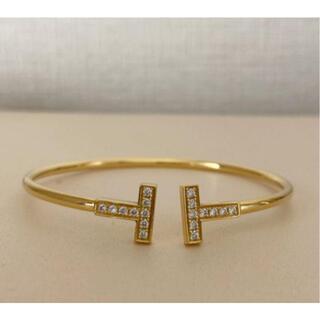 Tiffany & Co. - ティファニー Tワイヤーダイヤモンドブレスレット750PG