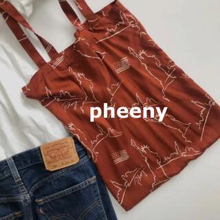 PHEENY - 美品☆ pheeny(フィーニー) NYCプリントトートバッグ エコバッグ