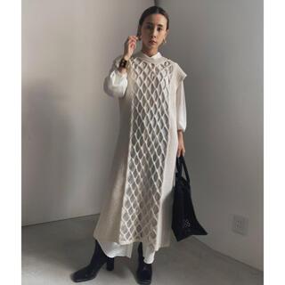 アメリヴィンテージ(Ameri VINTAGE)のAmeri  vintage LAYERED MESH KNIT DRESS (ロングワンピース/マキシワンピース)
