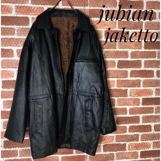 DIESEL - jubian ヴィンテージ 羊革 ペイズリー柄 総柄 レザージャケット 黒