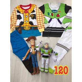 Disney - 【2枚セット】バズ ウッディ パジャマ 120