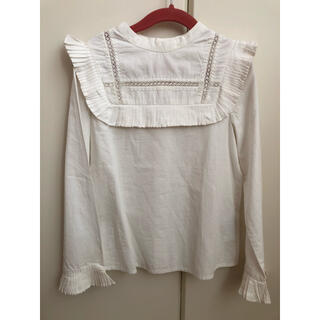 Bonpoint - 未着用 ボンポワン  長袖ブラウス 白 トップス 8 130cm 女の子