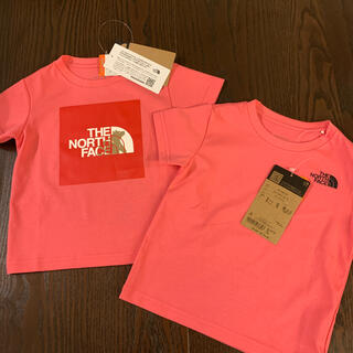 ザノースフェイス(THE NORTH FACE)の新品THE NORTH FACEキッズロゴTシャツ2枚セット(Tシャツ/カットソー)