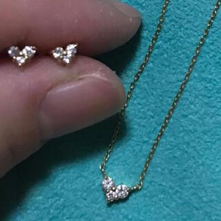 ete - ete K18  ダイヤモンド ハートネックレス