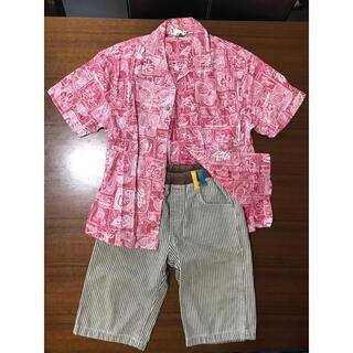 ザラ(ZARA)の上下セット supernatural お洒落ボタンシャツ 柔らかなショートパンツ(パンツ/スパッツ)