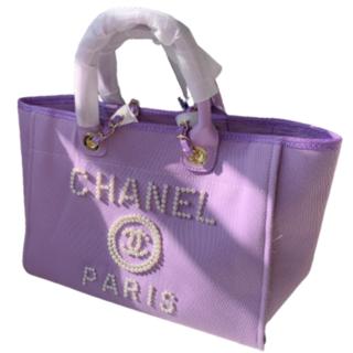 CHANEL - Chanelビーチバッグ キャンバスバッグ#09