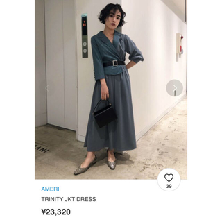 Ameri VINTAGE - 新品タグ付き☆ AMERI TRINITY JKT DRESS