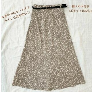 しまむら - しまむら Aライン 小花柄ロングスカート マーメイド フレア