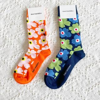 新品未使用 マリメッコ 靴下 ソックス 2足セット(ソックス)