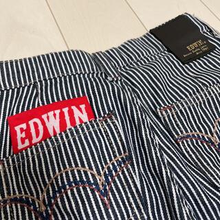 エドウィン(EDWIN)のEDWIN★ガウチョ ストライプデニムパンツ120エドウィン(パンツ/スパッツ)