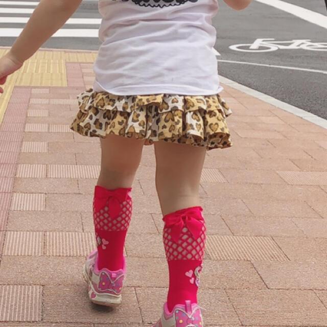 EARTHMAGIC(アースマジック)のアースマジック 16~18cm 網タイツ風 マフィー クルーソックス キッズ/ベビー/マタニティのこども用ファッション小物(靴下/タイツ)の商品写真