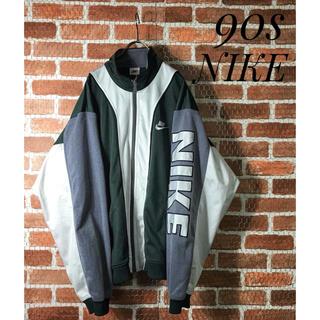 NIKE - 【激レア】90s NIKE ナイキ 刺繍ロゴ スウオッシュ トラックジャージ