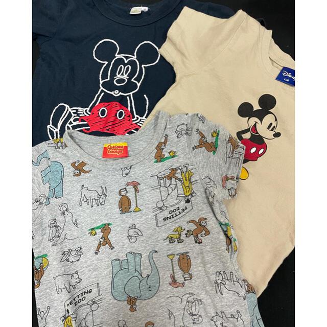 Disney(ディズニー)のミッキー&ジョージ Tシャツ3点セット キッズ/ベビー/マタニティのキッズ服男の子用(90cm~)(Tシャツ/カットソー)の商品写真