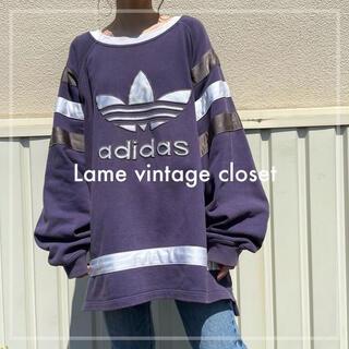 adidas - 【希少】80s 古着 adidas アディダス トレフォイル刺繍 ビンテージ