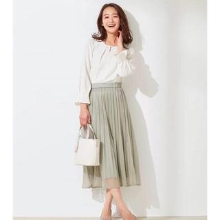 エニィスィス(anySiS)のブライトシアープリーツ スカート(ロングスカート)