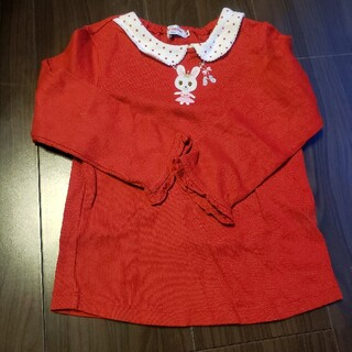 ミキハウス(mikihouse)のミキハウス 厚手 ロンT 100 ネックレス(Tシャツ/カットソー)